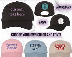 custom hats etsy
