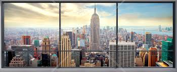 penthouse window view wall mural photo wallpaper photowall penthouse window view