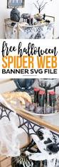 free spider web banner svg file printable crush