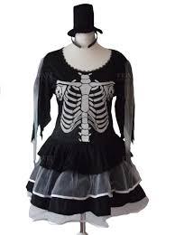 scary skeleton horror halloween fancy dress costume