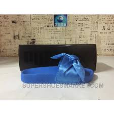 bandana bow x fenty bandana bow slide butterfly blue women sandals free