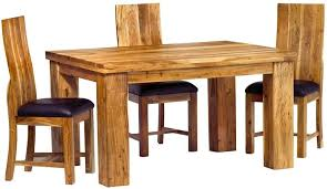 Dining Set With 4 Chairs Buy Indian Hub Metro Acacia Dining Set Small With 4 Chairs