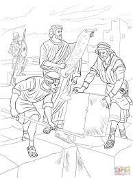 nehemiah rebuilding the walls of jerusalem coloring page free
