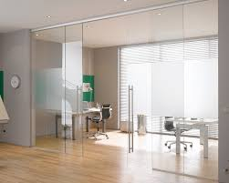 interior glass door in office sliding glass door design glass