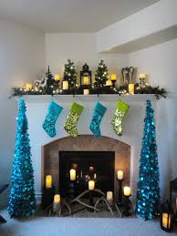 worth pinning sparkling holiday decor i also added battery powered led lights on clearance after christmas last year to the mantel trees and garland the lights brighten the dark greenery