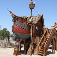 fun rooms big pirate ship shaped kids playroom wooden playhouse