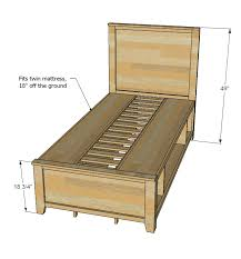 Free Twin Loft Bed Plans by Ana White Build A Hailey Storage Bed Twin Free And Easy Diy