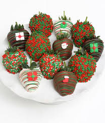White Chocolate Covered Strawberries Delivery Christmas Chocolate Covered Strawberries 12 Pieces At From You