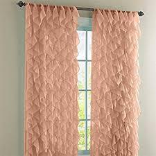 Sheer Ruffled Curtains Cascade Pale Spice 63 Shabby Chic Sheer Ruffled