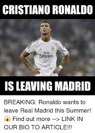Fly Out Memes - cristiano ronaldo fly emirates breaking ronaldo wants to leave