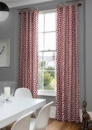 Patterned Window Curtains Moderne Pendant Geometric Curtains In And White With A Eye