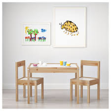 childrens table and 2 chairs lätt children s table with 2 chairs white pine ikea