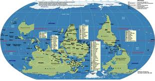 Arctic Circle Map World Map South On Top Johomaps
