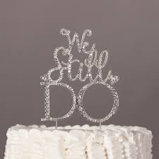 we do cake topper we still do anniversary cake topper silver vow renewal decoration