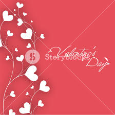 valentines day with white hearts filigree on pink background