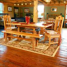 Hickory Dining Room Chairs Lewis And Clark Rustic Hickory Sapling Table Niangua Furniture