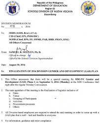 id s d o chambre b department of education schools division of nueva vizcaya