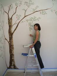simple tree wall murals painting tree wall murals decorating
