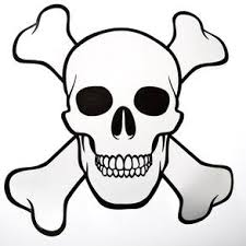 pirate skull and crossbones cutout century novelty