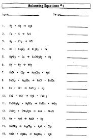 balancing equations worksheet fitness traning program