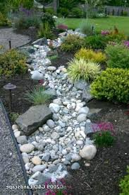 rock garden bed dry river bed landscaping dry creek bed look stone
