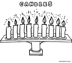 candle coloring pages coloring pages to download and print