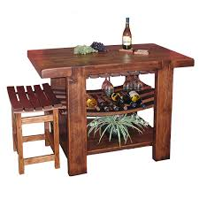wine barrel island u0026 stool stave table chair wood reclaimed