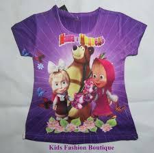 kids fashion boutique girls masha medved cartoon summer