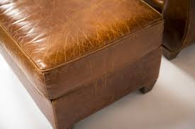 Mitchell Gold Leather Ottoman Armchair And Ottoman Made By Mitchell Gold Especially For