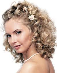 updo wedding hairstyle for medium hair