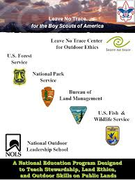 bureau service national leave no trace for the boy scouts of america a national education