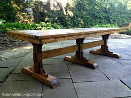 picnic table dining room farmhouse table dining room marceladick with regard to pedestal