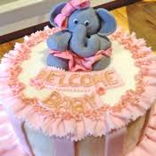 tutu baby shower cakes baby shower cakes from the solvang bakery adorable elephant and