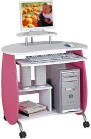 Compact Computer Desk Techni Mobili Rta Q203pw Kid U0027s Pink And White Compact Computer