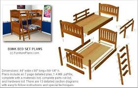 Free Bunk Bed Plans Pdf by Perfect Free Bunk Bed Plans For Kids Best Ideas 1916
