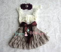 u0027 holiday dress ivory grey dark plum lace dress set baby girls