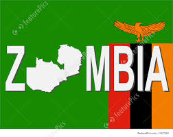 Zambia Map Illustration Of Zambia Text With Map