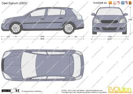 opel signum 2003 the blueprints com vector drawing opel signum