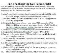 thanksgiving parade listening comprehension freebie alert