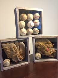 designed for a sports themed room very simple shadow boxes i