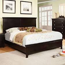 amazon com 247shopathome idf 7113ex ek bed frames king espresso