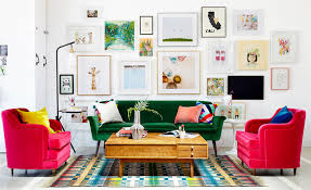 Small Desk Next To Sofa How To Hang Art Correctly Emily Henderson