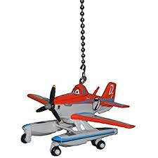 Airplane Ceiling Light Jet Airplane Fan Pull Decorative Light Chain By Clementine