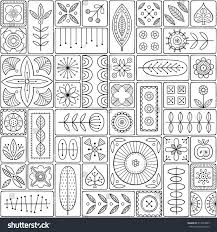 Design Tiles by Scandinavian Design Tiles Floral Abstractions Patterns Stock