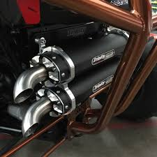 exhaust system racing polaris rzr xp1000 stage 5 dual exhaust system