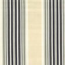 Striped Drapery Fabric D2792 Sanibel Black Pearl Grey Cotton Stripe Drapery Fabric By
