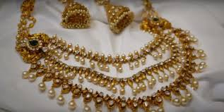 beautiful and wedding gold jewellery and necklace