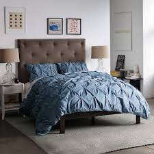 Blue Bed Frame Simple Bed Frame Chocolate West Elm