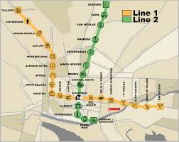 Santiago Metro Map by List Of Monterrey Metro Stations Wikipedia