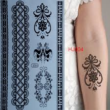 2015 black lace tattoo stickers water transfer waterproof